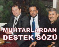 MUHTARLARDAN, HAKAN DELİCE'YE DESTEK SÖZÜ