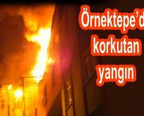 Örnektepe Mahallesi'nde Korkutan Yangın