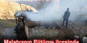 Pütürge'nin Örencik köyünde yangın çıktı
