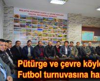 Pütürge ve çevre köyleri turnuvaya hazır