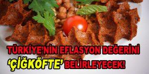 """Türkiye'nin Eflasyon Değerini """"Çiğ Köfte"""" Belirleyecek!"""