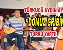 """Türkücü Aydın Aydın, """"Domuz Gribi"""" için türkü yazdı!"""