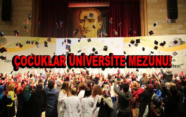 Çocuklar Üniversite Mezunu