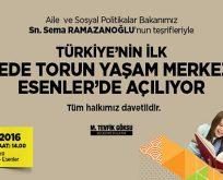 """Esenler'de """"DEDE-TORUN YAŞAM MERKEZİ"""" Açılıyor"""