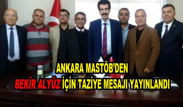 Ankara MASTÖB'den Taziye Mesajı