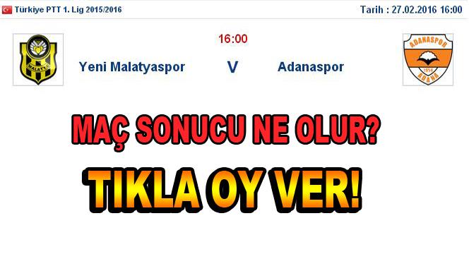 Yeni Malatyaspor- Adanaspor maçına doğru…