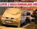 Esenler'de 2 minibüse kundaklama girişimi