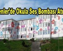 Esenler'de okula ses bombası atıldı