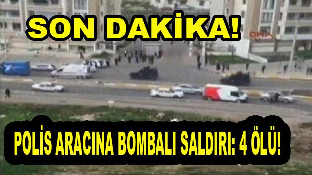 Diyarbakır'da Polis Aracına Bombalı saldırı! 4 Ölü!