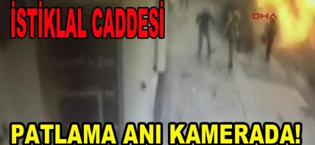 İstiklal Caddesi'ndeki patlama anı kamerada!