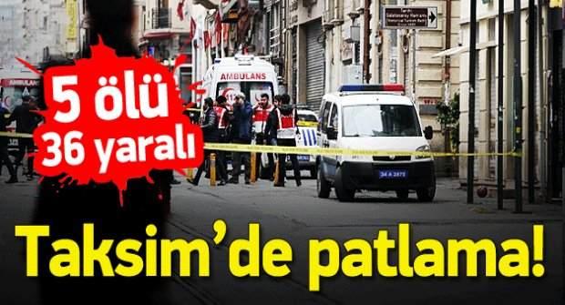 İstiklal Caddesi'nde Canlı Bomba Saldırısı: 5 Ölü, 36 Yaralı!