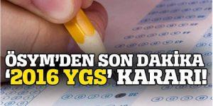 ÖSYM; YGS soruları ile ilgili kararını verdi!
