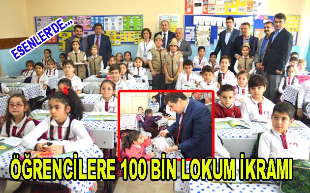 Öğrencilere 100 Bin Lokum İkramı!