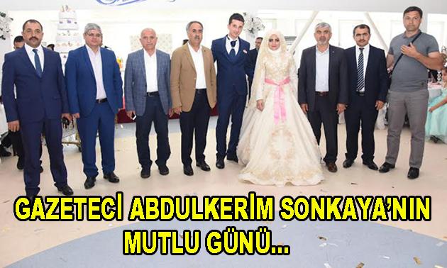 Gazeteci Abdulkerim Sonkaya'nın kızı evlendi