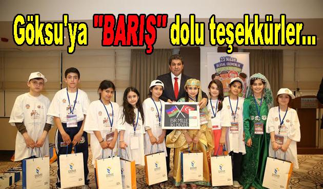 """Göksu'ya """"BARIŞ"""" dolu teşekkürler…"""