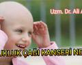 Çocukluk Çağı Kanseri Nedir?
