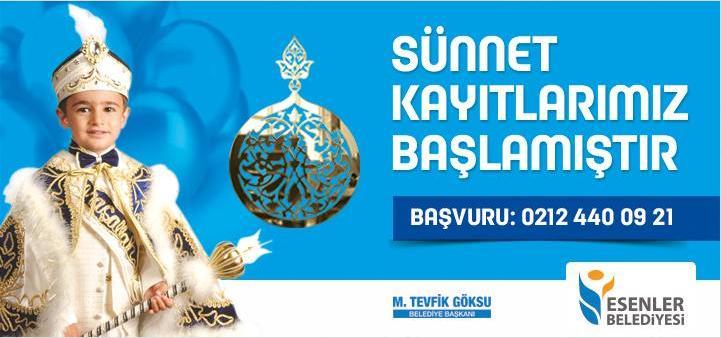 Esenler Belediyesi'nin Organize ettği Sünnet Kayıtları başladı