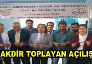 Şehit Öğretmen Nuriye Ak Ortaokulu Tübitak Bilim Fuarı'nı açtı