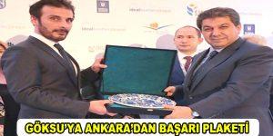 Göksu'ya Ankara'dan Başarı Plaketi