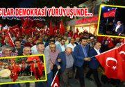 Bağcılar'da Mehter takımı eşliğinde demokrasi yürüyüşü