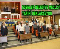 Esenler Belediye Meclisi'nden Tarihi Deklarasyon