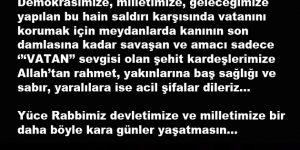 Türkiye Milli İradeye Sahip Çıktı