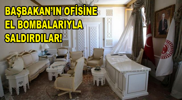 Başbakan'ın ofisine el bombalarıyla saldırdılar!