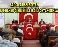 Bağcılar Belediyesi,15 Temmuz Darbe Girişimi İle İlgili Ortak Deklarasyon