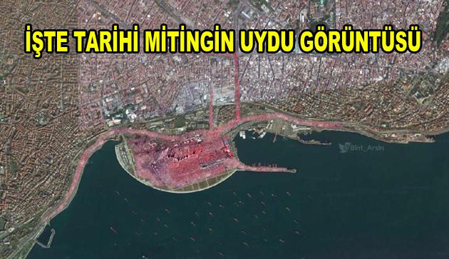 Tarihi Mitingin uydu görüntüsü