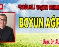 Boyun Ağrısı – Uzm. Dr. Ali AYDIN