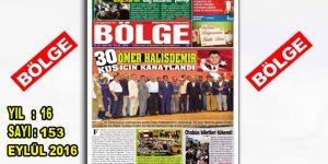 """BÖLGE GAZETESİ 153. """"EYLÜL"""" SAYISI ÇIKTI"""