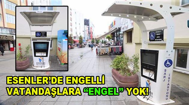 """Esenlerde engelli vatandaşlara """"Engel"""" yok!"""