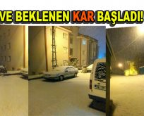 Kar Türkiye'ye giriş yaptı
