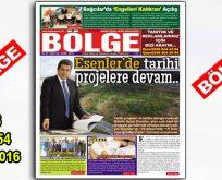 """BÖLGE GAZETESİ 154. """"EKİM 2016"""" SAYISI ÇIKTI"""