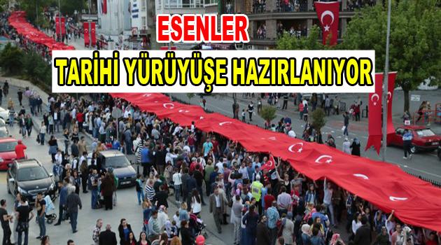 29 Ekim'de 2 bin 600 metrelik Türk Bayrağı ile yürüyüş