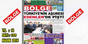 """BÖLGE GAZETESİ 155. """"KASIM"""" SAYISI ÇIKTI"""