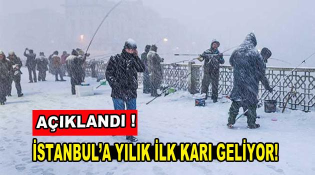 İstanbul'a yılın ilk karı geliyor!