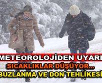 Meteorolojiden uyardı! Buzlanma ve don tehlikesi!