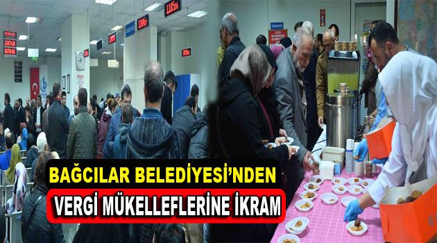 Bağcılar Belediyesi'nden vergi mükelleflerine ikram