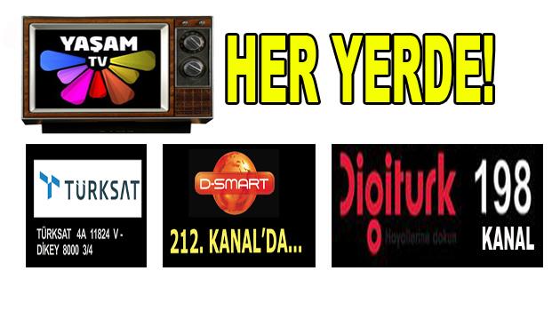 YAŞAM TV, DIGITURK'TE!