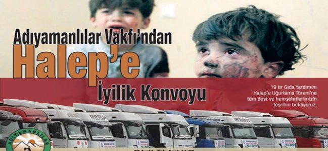 Halep'e 19 Tır dolusu yardım malzemesi gidiyor