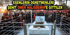 Esenlerin öğretmenleri Ömer Halisdemir'e gittiler