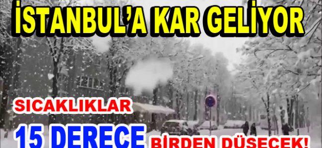 Dikkat! İstanbul'a kar geliyor!