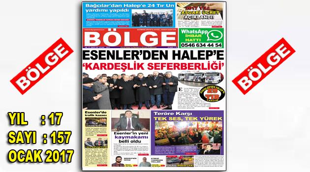 """BÖLGE GAZETESİ 157. """"OCAK-2017"""" SAYISI ÇIKTI"""