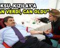 """Göksu, Kızılay'a """"Kan Verdi, Can Oldu"""""""