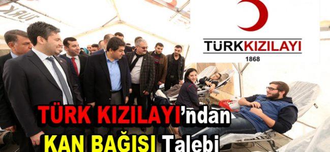 Türk Kızılay'ından kan bağışı talebi geldi