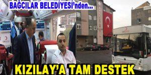 Bağcılar Belediyesi'nden Kızılay'a tam destek