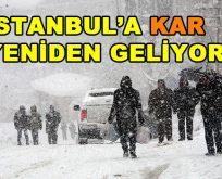 İstanbul'a yeniden kar geliyor