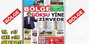 """BÖLGE GAZETESİ 158. """"ŞUBAT-2017"""" SAYISI ÇIKTI"""