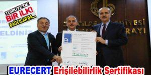 Engelliler Sarayı'na EURECERT Erişilebilirlik Sertifikası verildi